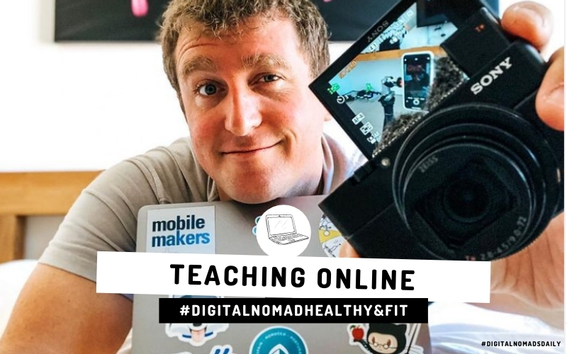 cover photo Digital Nomad Talk with online teacher Wade Sellers